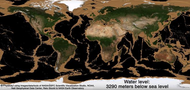 Bề mặt Trái Đất sẽ trông như thế nào nếu các đại dương bị hút cạn nước biển? - Ảnh 3.