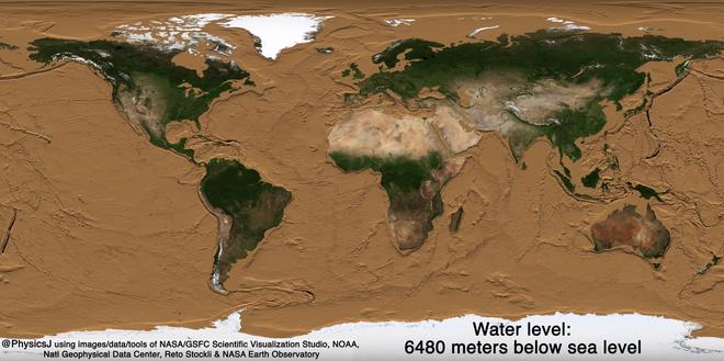 Bề mặt Trái Đất sẽ trông như thế nào nếu các đại dương bị hút cạn nước biển? - Ảnh 4.
