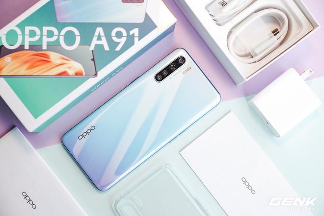 OPPO A91 chính thức ra mắt: thiết kế mỏng chỉ 7,9mm, rất nhẹ, 4 camera 48MP, sạc nhanh VOOC 3.0 - Ảnh 1.