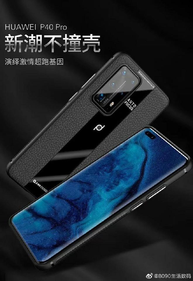 Huawei P40 Pro lộ diện với cụm camera sau cực ngầu - Ảnh 1.