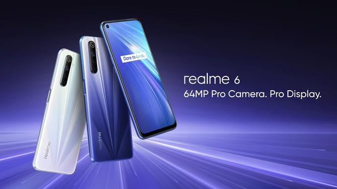 Realme 6 ra mắt: Màn hình 90Hz, camera 64MP, sạc nhanh 30W, giá từ 4.1 triệu đồng - Ảnh 1.