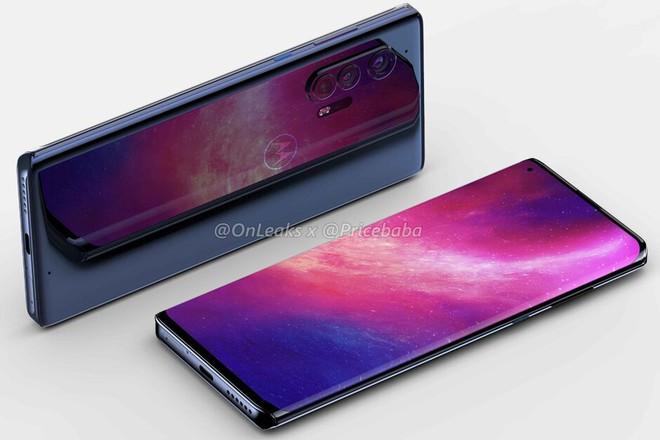 Chiếc smartphone cao cấp Motorola Edge+ 5G lộ diện với thiết kế ấn tượng - Ảnh 1.