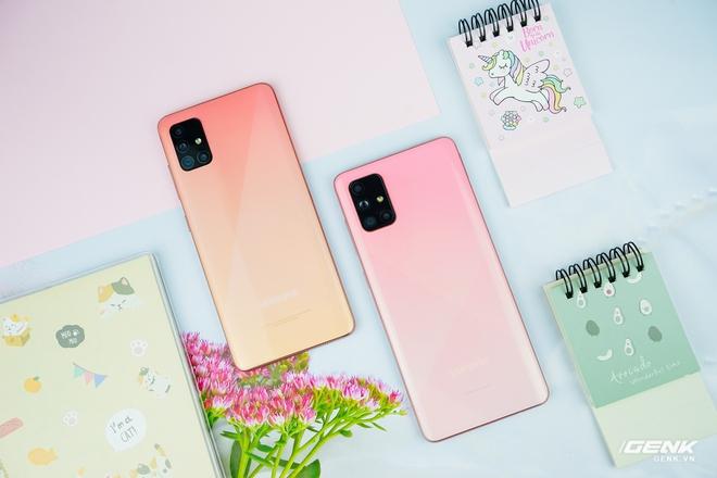 Ảnh thực tế Galaxy A51 và Galaxy A71 màu Hồng mới, quà dành cho chị em phụ nữ nhân ngày 8/3 - Ảnh 1.