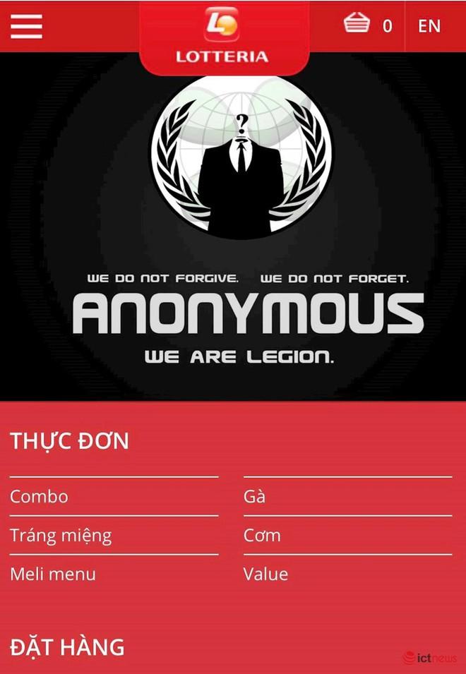 Website Lotteria Việt Nam bị nhóm hacker khét tiếng Anonymus tấn công? - Ảnh 1.