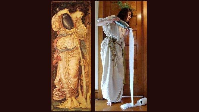 Ở nhà tránh Covid-19, dân mạng thi nhau sử dụng đồ dùng gia đình để bắt chước theo những tác phẩm nghệ thuật nổi tiếng thế giới - Ảnh 10.