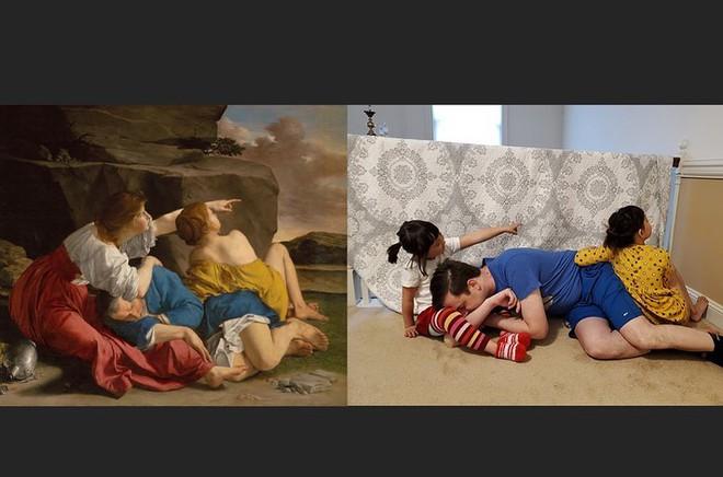 Ở nhà tránh Covid-19, dân mạng thi nhau sử dụng đồ dùng gia đình để bắt chước theo những tác phẩm nghệ thuật nổi tiếng thế giới - Ảnh 4.