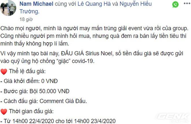 Đấu giá một keycap, nhóm chơi phím cơ Việt Nam kêu gọi được 50 triệu Đồng cho quỹ chống COVID-19 - Ảnh 2.