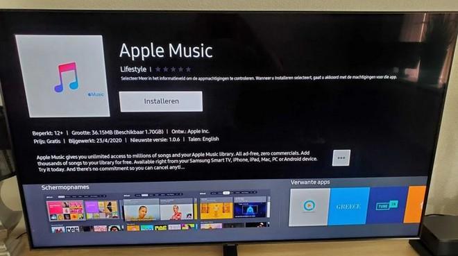 Ứng dụng Apple Music lần đầu tiên xuất hiện trên kho ứng dụng của Samsung SmartTV - Ảnh 2.