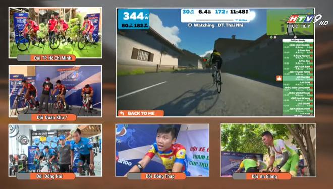 TP.HCM lần đầu tổ chức giải đua xe đạp online: Phiên bản ảo nhưng vẫn phải đạp xe như thường, mệt hơn cả đua thật - Ảnh 4.