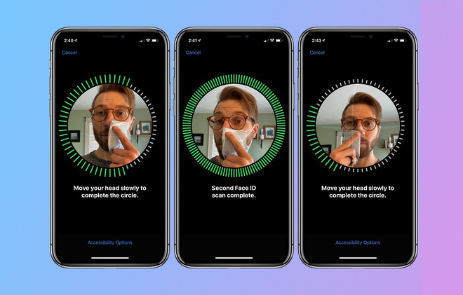 Với thay đổi này cho FaceID trong mùa dịch Covid-19, Apple thể hiện một đặc điểm vượt trội của nhận diện khuôn mặt 3D - Ảnh 3.