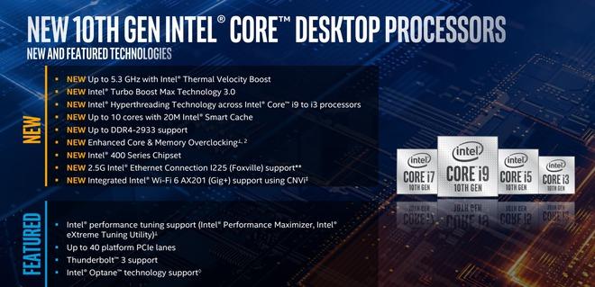 Intel trình làng Core i thế hệ 10: tên mã Comet Lake-S, vẫn 14nm nhưng đã chạm mốc 10 nhân 20 luồng trên dòng PC phổ thông - Ảnh 1.