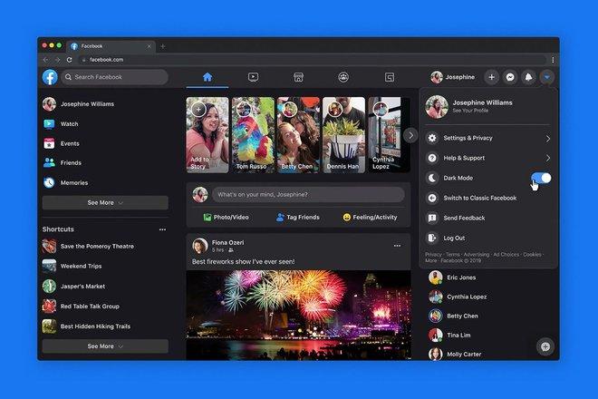 Facebook bắt đầu cập nhật giao diện mới cho trình duyệt web cho tất cả người dùng, có cả Dark Mode - Ảnh 1.