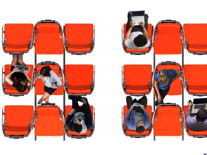 Giải pháp mới cho các hãng hàng không mùa Covid-19: Xếp ghế ngồi theo kiểu giở đầu đuôi để hạn chế hành khách tiếp xúc gần - Ảnh 7.