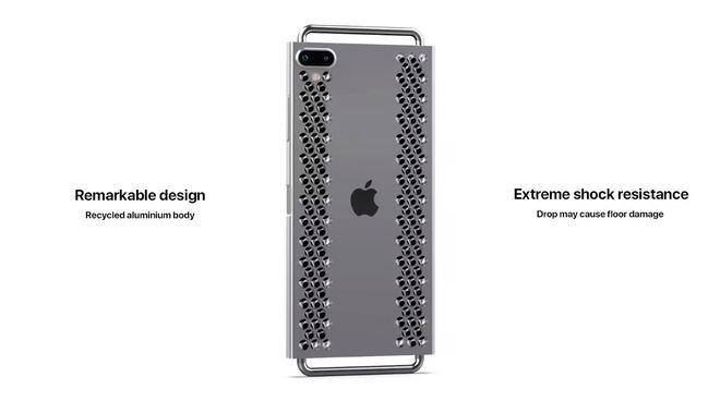 """Concept iPhone 12 """"điên rồ"""" chưa từng thấy, trông chẳng khác gì cái bàn nạo phô mai được gắn bánh xe như Mac Pro - Ảnh 4."""