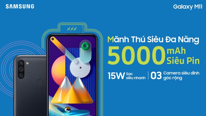 Galaxy M11 ra mắt tại VN: Snapdragon 450, cụm 3 camera, pin 5.000mAh, giá 3,69 triệu đồng - Ảnh 3.