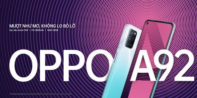 OPPO A92 ra mắt tại VN: Snapdragon 665, 4 camera 48MP, pin 5000mAh, giá 6.99 triệu đồng - Ảnh 1.