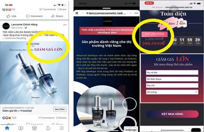 Hàng loạt website giả mạo, bán hàng lừa đảo - Ảnh 1.