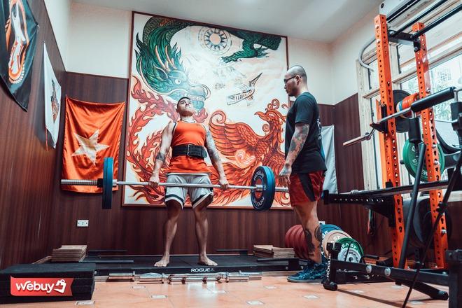Khám phá phòng gym hơn 1,2 triệu đồng cho 90 phút tập luyện của vận động viên cử tạ huy chương vàng toàn quốc - Ảnh 9.