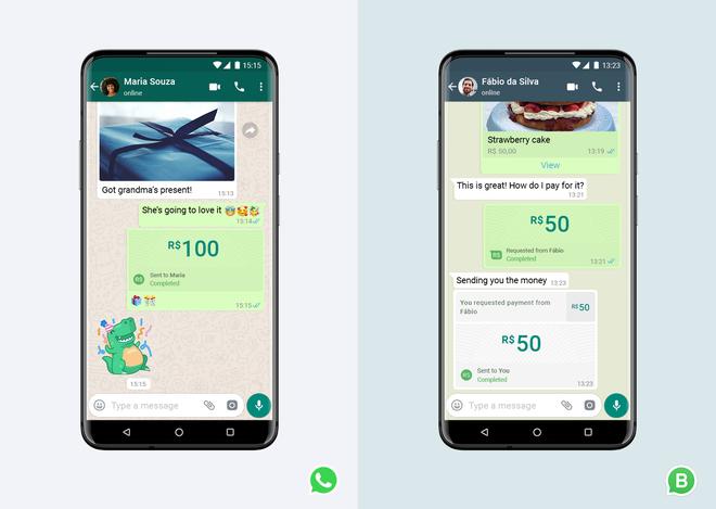 WhatsApp - công ty con của Facebook - ra mắt hệ thống thanh toán trong ứng dụng tại Brazil - Ảnh 1.