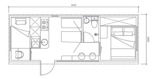Ngôi nhà mini như bước ra từ phim viễn tưởng, gọn gàng nhưng đủ không gian cho gia đình 4 người - Ảnh 2.