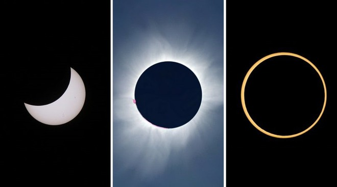 Hôm nay, người dân Hà Nội, Đà Nẵng và TP.HCM đừng quên theo dõi hiện tượng nhật thực hiếm gặp vào những thời điểm sau - Ảnh 1.