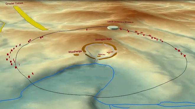Phát hiện cấu trúc tiền sử khổng lồ nằm ngay gần Stongehenge, tạo nên bởi các hố sâu 5 mét xếp thành hình tròn lớn - Ảnh 1.