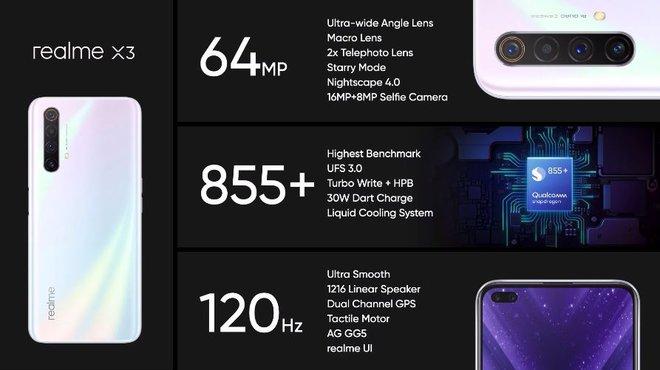 Realme X3 ra mắt: Màn hình 120Hz, Snapdragon 855+, 4 camera sau 64MP, giá từ 7.7 triệu đồng - Ảnh 2.