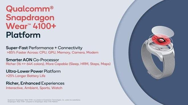 Qualcomm ra mắt chip xử lý Snapdragon Wear 4100 và 4100+, tăng thêm 85% sức mạnh cho smartwatch - Ảnh 2.
