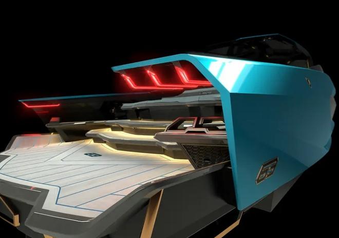 Lamborghini thiết kế du thuyền trông như siêu xe, giá 3,4 triệu USD - Ảnh 7.
