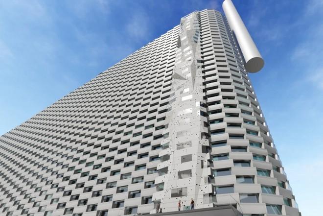 Ngắm nhìn bức tường leo núi cao nhất thế giới được xây dựng ngay trên một tòa nhà cao tầng - Ảnh 6.