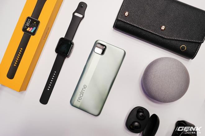 Realme mở rộng hệ sinh thái sản phẩm tại Việt Nam, ra mắt cùng lúc điện thoại, tai nghe và đồng hồ thông minh - Ảnh 5.