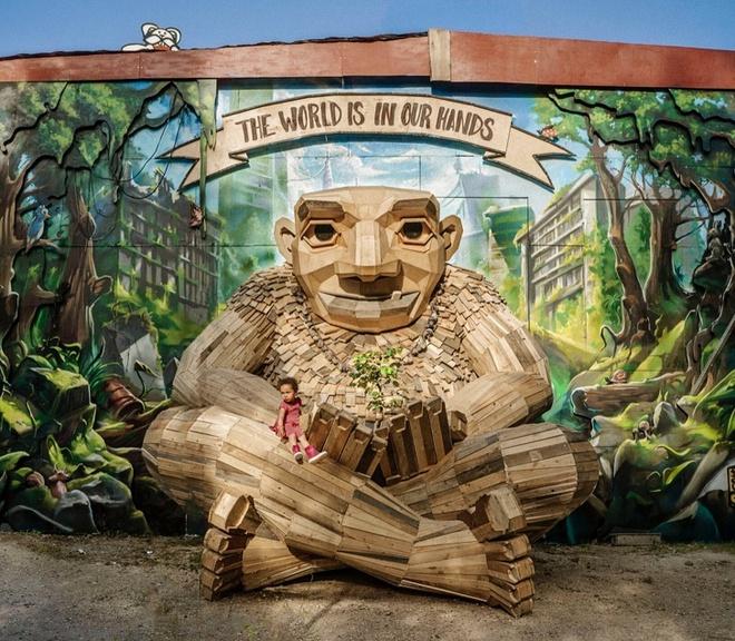 Cùng là những bức tượng khổng lồ nhưng khu vui chơi ở Đà Lạt bị chê tơi tả, công viên này lại khiến thế giới phải lác mắt vì quá nghệ - Ảnh 13.