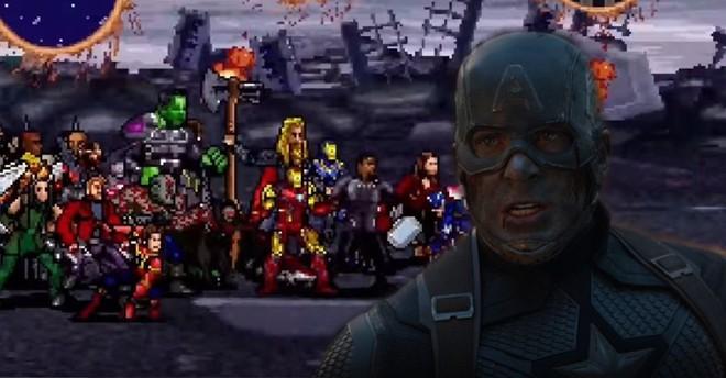 Mời bạn xem trận chiến cuối cùng trong Avengers: Endgame theo phong cách 16-bit, không khác gì màn đấu boss của 1 tựa game cổ điển - Ảnh 3.