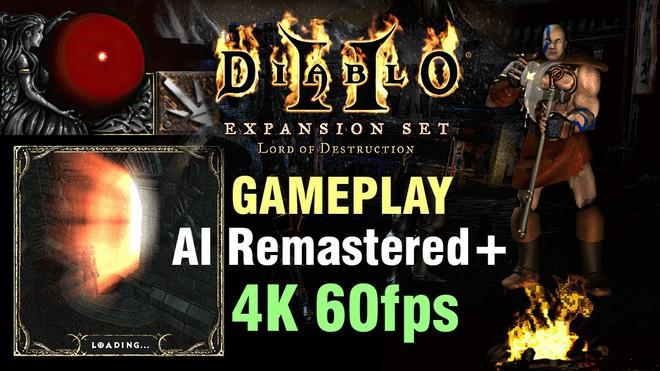 YouTuber dùng machine learning tái tạo huyền thoại Diablo II với hình ảnh cực đẹp, chạy độ phân giải 4K 60 FPS mượt mà - Ảnh 1.