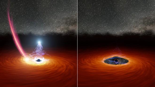 Lần đầu tiên trong lịch sử, các nhà thiên văn học quan sát được 1 hố đen vừa chớp mắt - Ảnh 1.
