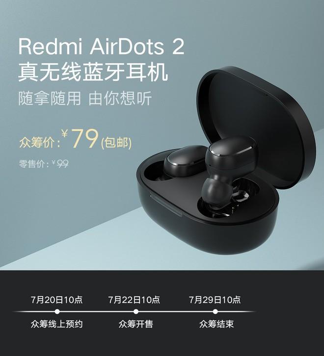 Xiaomi ra mắt tai nghe không dây Redmi AirDots 2: Giá siêu rẻ, chỉ 250.000 đồng - Ảnh 1.