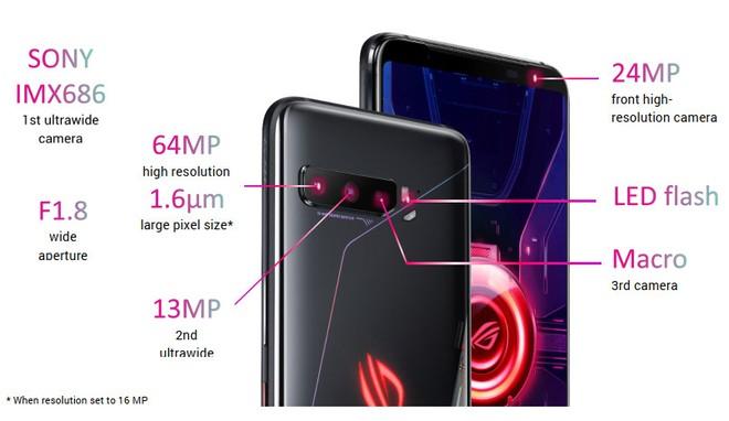 ROG Phone 3 ra mắt: Snapdragon 865+, màn hình 144Hz, camera 64MP, pin 6000mAh, giá từ 799 EUR - Ảnh 4.