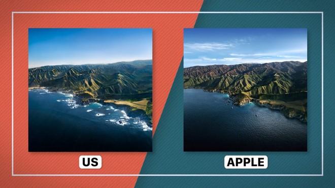 Nhóm bạn dùng trực thăng để tái hiện lại hình nền ấn tượng của macOS Big Sur - Ảnh 1.