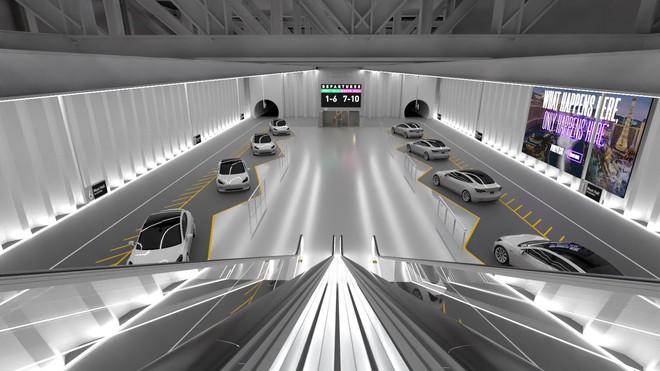 Elon Musk nhá hàng ảnh dựng trạm hyperloop rất ấn tượng tại Las Vegas - Ảnh 1.