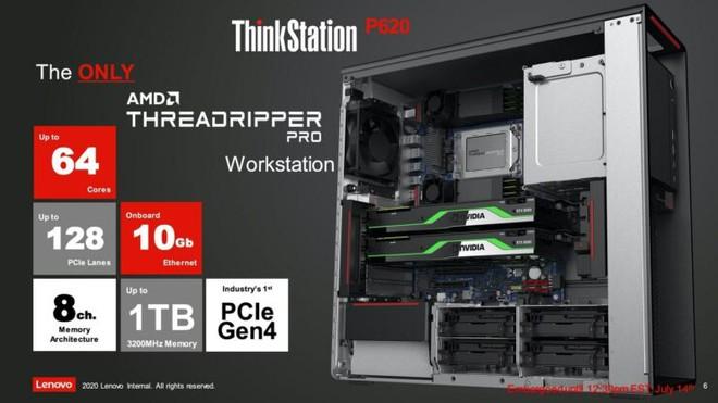 Lenovo ra mắt máy trạm đầu tiên trên thế giới sử dụng chip AMD Ryzen Threadripper PRO, mở ra kỷ nguyên máy trạm 64 nhân - Ảnh 4.