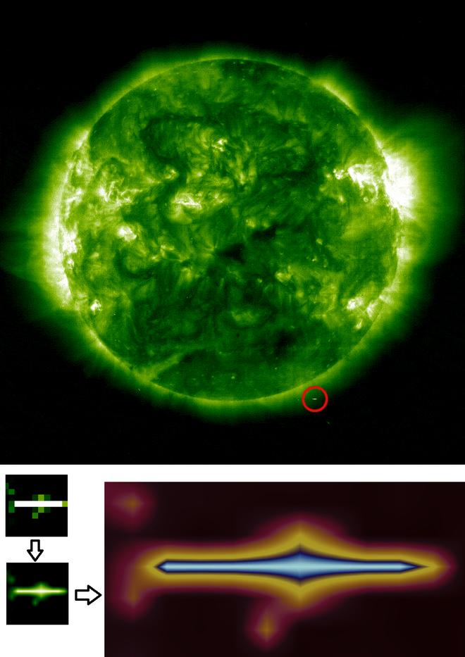 Tại sao trong tấm ảnh Mặt Trời của NASA chụp lại có một hình vuông đen ngòm như thế này? - Ảnh 4.