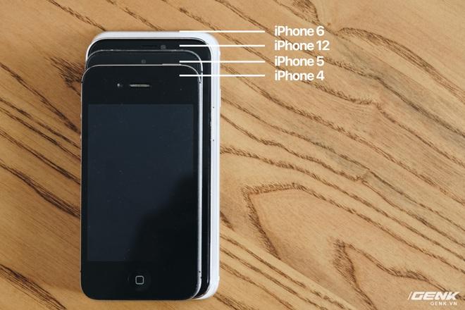 So sánh iPhone 12 5.4 inch với iPhone 4, iPhone 5 và iPhone 6: Chiếc iPhone nhỏ gọn đáng để chờ đợi - Ảnh 4.