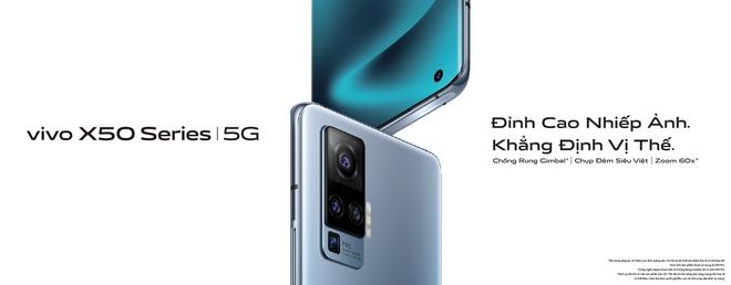 Vivo X50 series ra mắt tại VN: Màn hình 90Hz, Snapdragon 730/765G hỗ trợ 5G, cụm 4 camera Gimbal, giá 12.99/19.99 triệu đồng - Ảnh 1.
