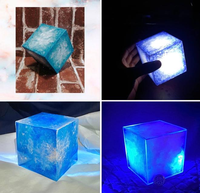 Ngỡ ngàng với những khối Tesseract tuyệt đẹp do fan Marvel tự chế tạo từ vật dụng thường ngày - Ảnh 2.