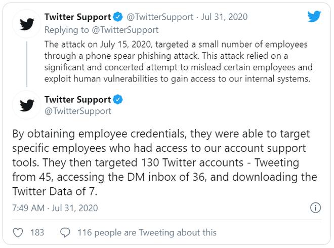 Twitter tiết lộ cách thức hacker chiếm tài khoản của Elon Musk, Bill Gates, Warren Buffett ... như thế nào - Ảnh 2.