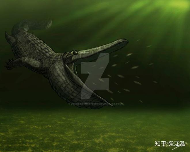 Stomatosuchus inermis: Loài cá sấu cổ đại có thể nuốt chửng cả thế giới - Ảnh 1.