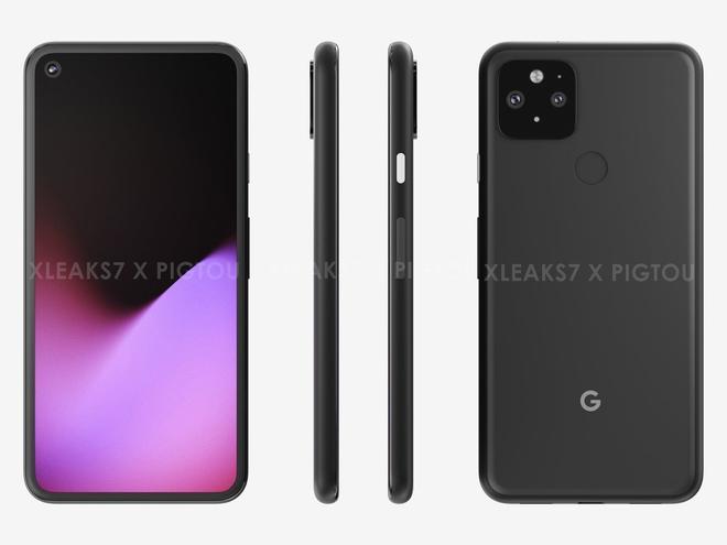 Đây là Google Pixel 5: Màn hình đục lỗ, mặt lưng giống Pixel 4 nhưng có thêm cảm biến vân tay? - Ảnh 1.