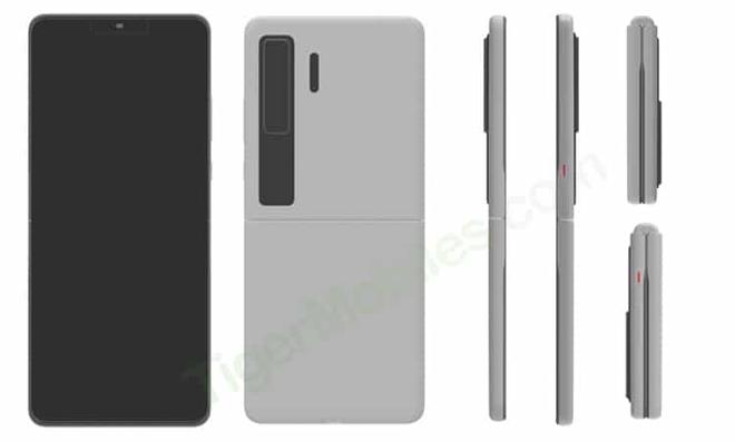 Huawei đáp trả Samsung với smartphone màn hình gập vỏ sò giống Galaxy Z Flip - Ảnh 1.