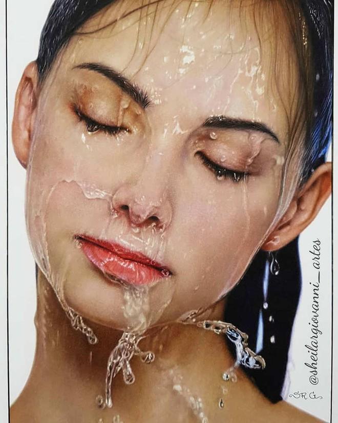 Loạt tranh siêu thực vẽ bằng bút chì khiến người xem không thể rời mắt vì quá chân thực - Ảnh 14.