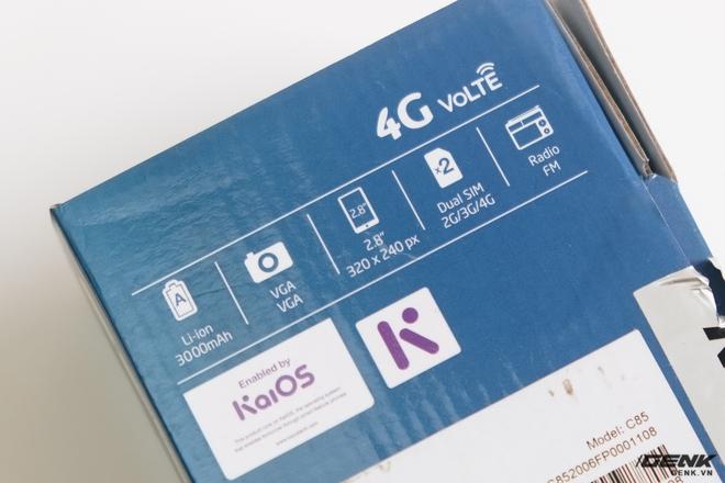 Trên tay BKAV C85 giá 500.000 đồng: Pin 3000mAh, chạy KaiOS, hỗ trợ 4G, tiếc rằng không có Wi-Fi - Ảnh 2.